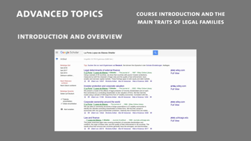 Still medium mlea   class 1  part 1   introduction to the course the main traits of legal families  voigt